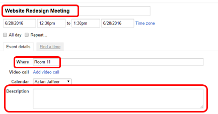 Meeting invite